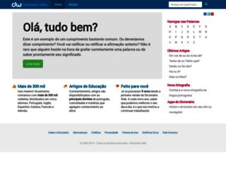 dicionarioweb.com.br screenshot