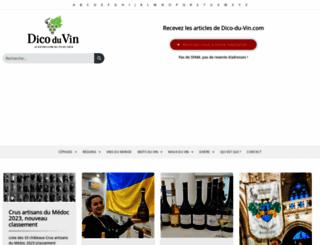 dico-du-vin.com screenshot