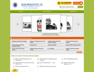 diconproducts.co.in screenshot