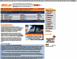 dict.cc screenshot
