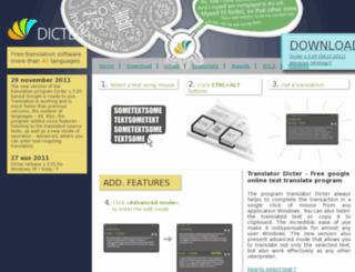 dicter.net screenshot