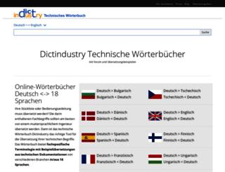 dictindustry.de screenshot