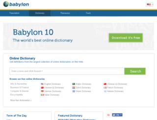 dictionary.babylon.com screenshot