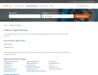 dictionary.findlaw.com screenshot