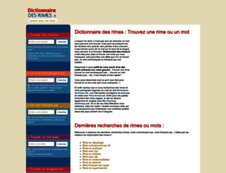 dictionnaire-des-rimes.fr screenshot