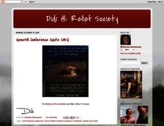 didiatreliefsociety.blogspot.com screenshot