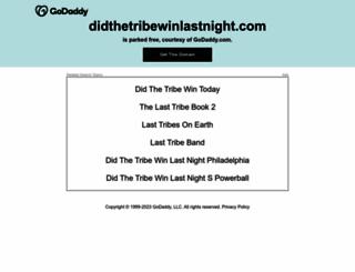 didthetribewinlastnight.com screenshot
