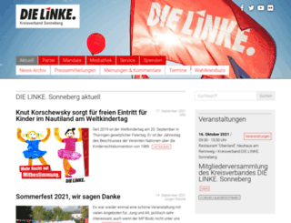 die-linke-sonneberg.de screenshot