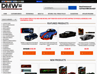 diecastmodelswholesale.com screenshot