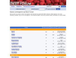 dieetforum.be screenshot