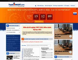 diemthi.tuyensinh247.com screenshot
