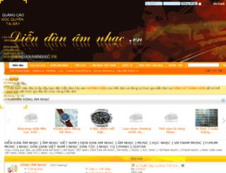 diendanamnhac.vn screenshot