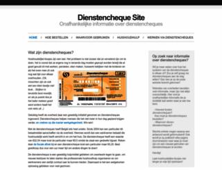 dienstenchequesite.be screenshot