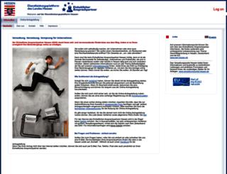 dienstleistungsplattform.hessen.de screenshot