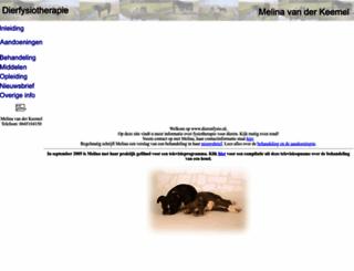 dierenfysio.nl screenshot