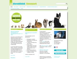 dierenkliniekkenaupark.nl screenshot
