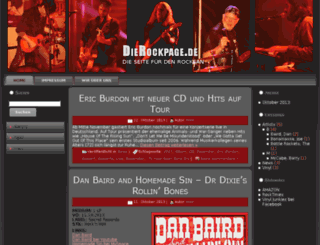 dierockpage.de screenshot
