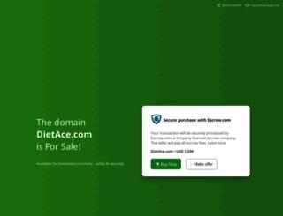 dietace.com screenshot