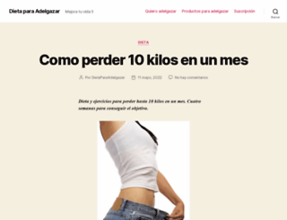 dietaparaadelgazar.info screenshot