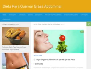 dietaparaquemargrasaabdominal.com screenshot