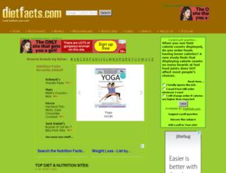 dietfacts.com screenshot