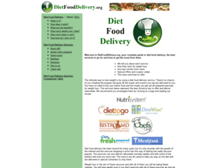 dietfooddelivery.org screenshot
