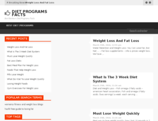 dietprogramsfacts.com screenshot