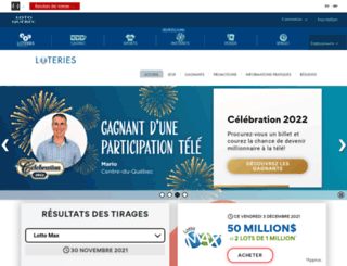 diffusion.loto-quebec.com screenshot