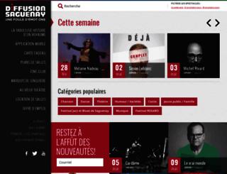 diffusion.saguenay.ca screenshot