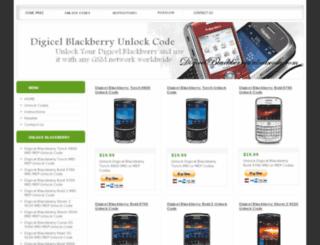 digicelblackberryunlockcode.com screenshot