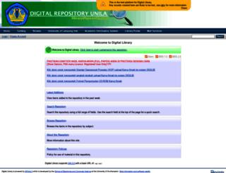 digilib.unila.ac.id screenshot