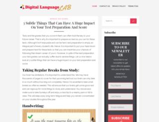 digital-languagelab.com screenshot