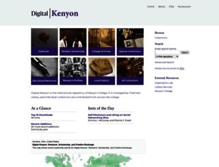 digital.kenyon.edu screenshot