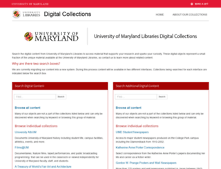 digital.lib.umd.edu screenshot