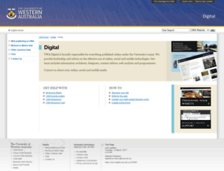 digital.uwa.edu.au screenshot