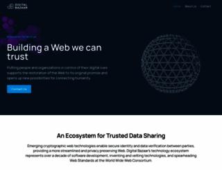 digitalbazaar.com screenshot