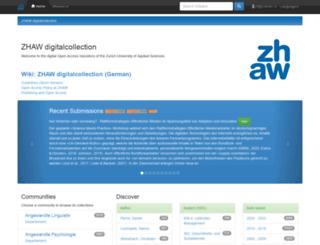 digitalcollection.zhaw.ch screenshot
