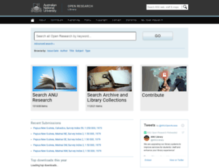 digitalcollections.anu.edu.au screenshot
