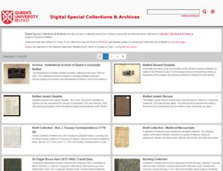 digitalcollections.qub.ac.uk screenshot