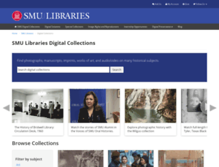 digitalcollections.smu.edu screenshot