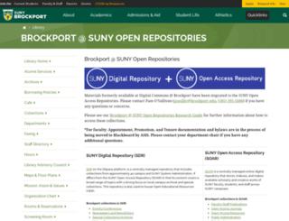 digitalcommons.brockport.edu screenshot