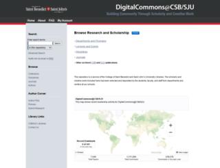 digitalcommons.csbsju.edu screenshot