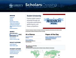 digitalcommons.liberty.edu screenshot