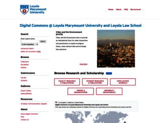 digitalcommons.lmu.edu screenshot