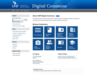 digitalcommons.unf.edu screenshot