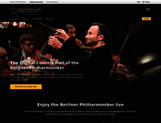 digitalconcerthall.com screenshot