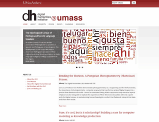 digitalhumanities.umass.edu screenshot