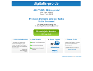 digitalis-pro.de screenshot