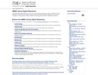 digitallibrary.amnh.org screenshot
