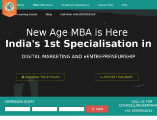 digitalmba.shobhituniversity.ac.in screenshot